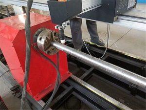 د 2017 نوي پورټ ایبل ډول پلازما فلزي پایپ کټر ماشین ، د CNC فلزي ټیوب کښین ماشین