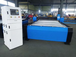 د چین CNC پلازما د ریبلو ماشین هایپر 125a موټره فلزي شیټ 65a 85a 200a اختیاري jbt-1530