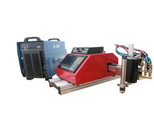 د لوړ کیفیت پورټ ایبل کوچني CNC پلازما د ریبلو ماشین د ګاز شوي فولادي شیټ لپاره