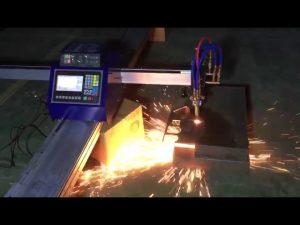د فلزي سټینلیس سټیل پری کولو لپاره د ټیټ لګښت منی پورټ ایبل CNC پایپ فلش پلازما کټ ماشین