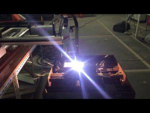 د ټیټ لګښت پورټ ایبل CNC ګاز پلازما پرې کولو ماشین